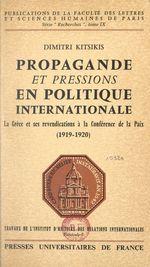 Propagande et pressions en politique internationale