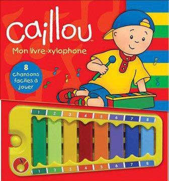 Caillou ; Mon Livre Xylophone ; 8 Chansons Faciles A Jouer