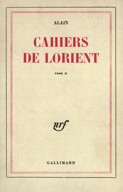 Cahiers de Lorient