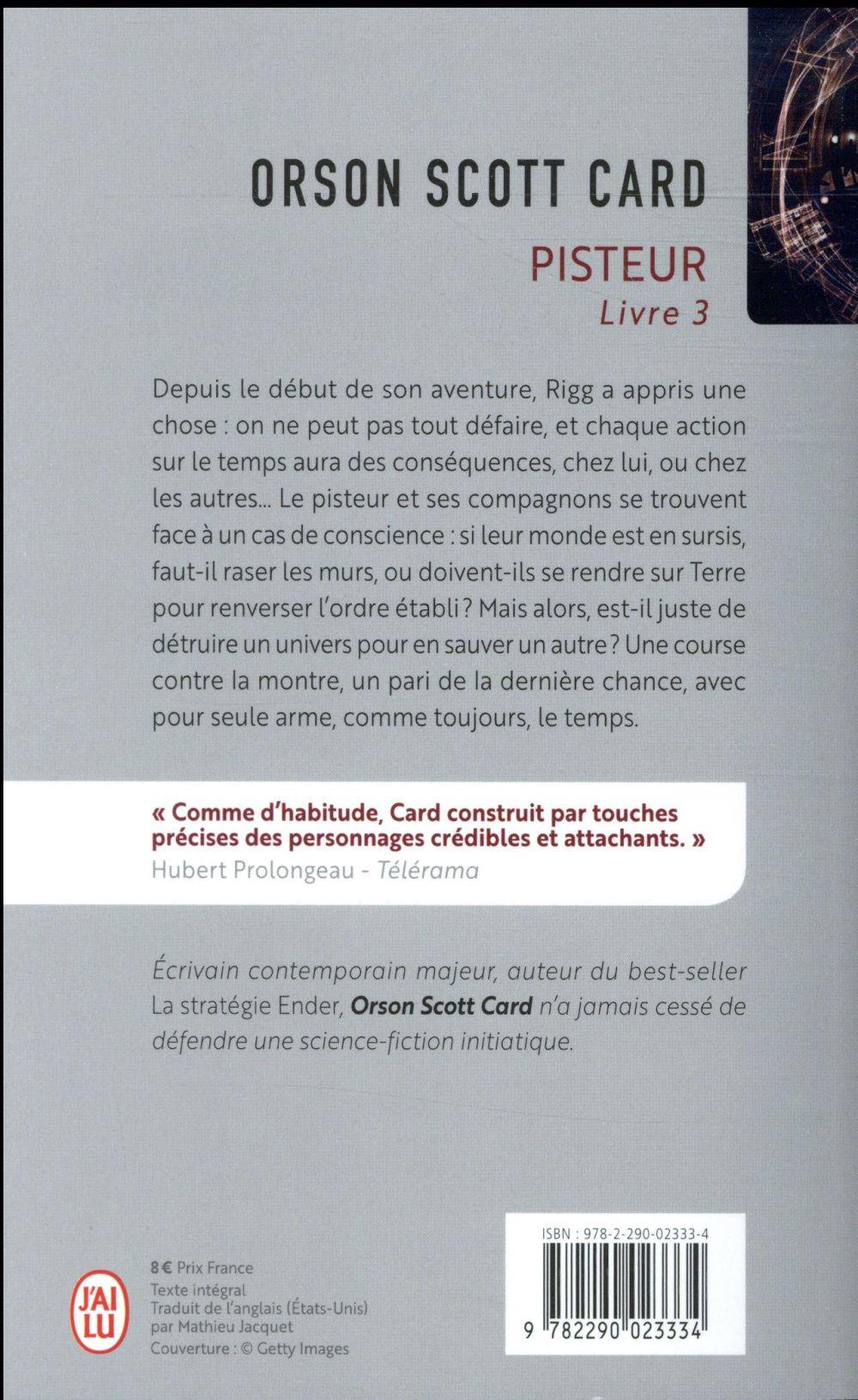 Pisteur, livre 3
