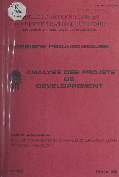 Analyse des projets de développement