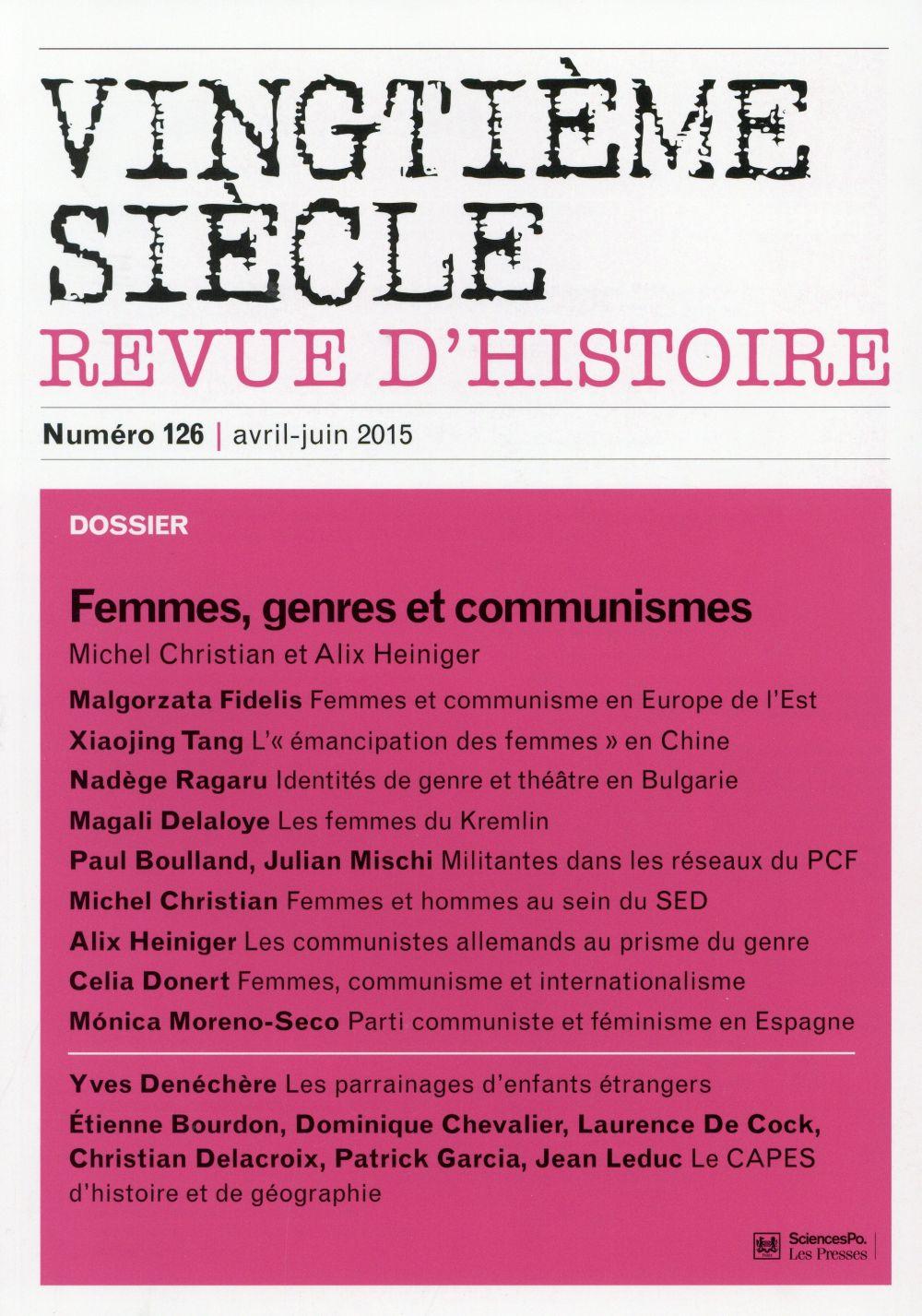 Revue vingtieme siecle t.126; femmes et communismes