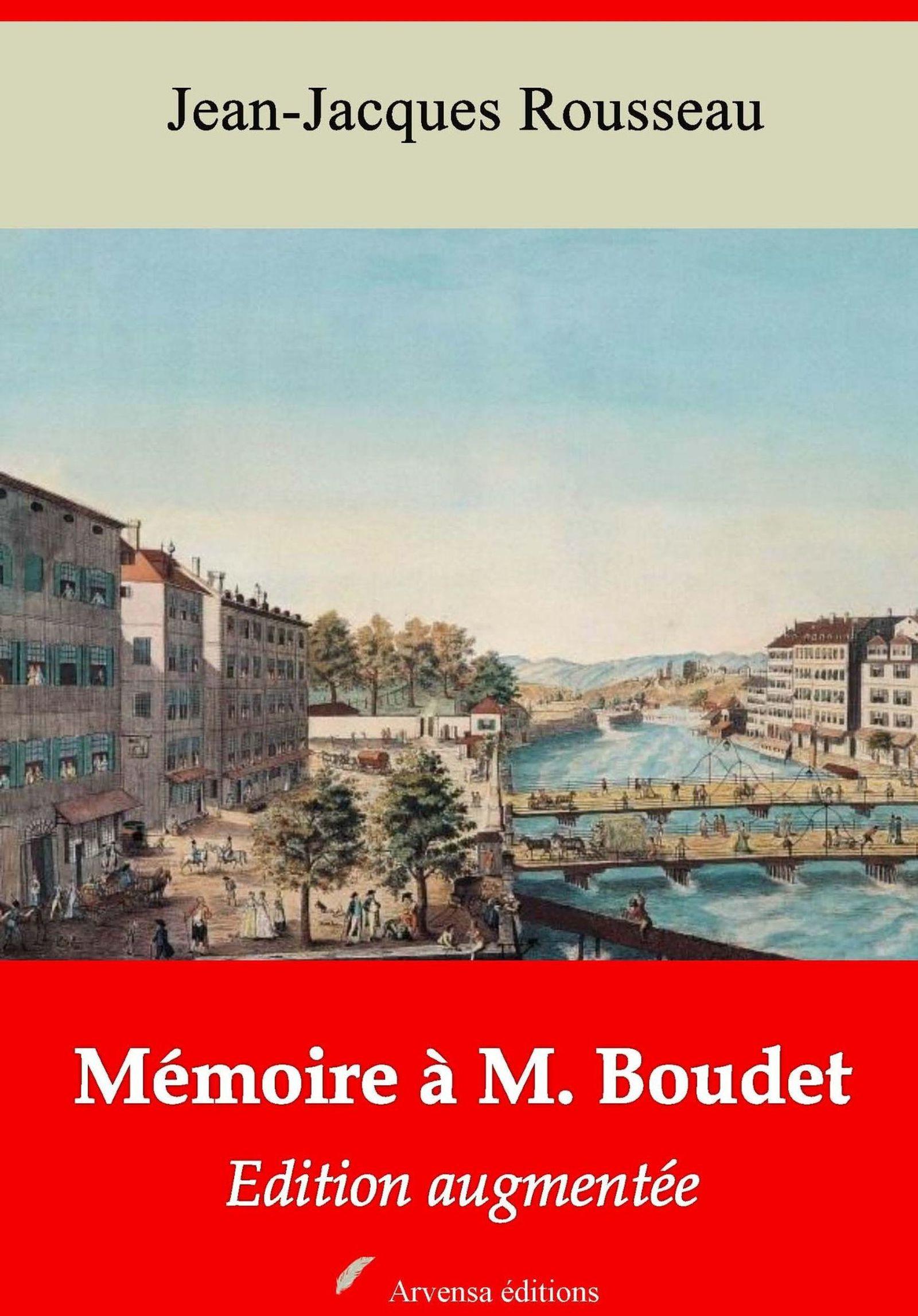 Mémoire à M. Boudet - suivi d'annexes