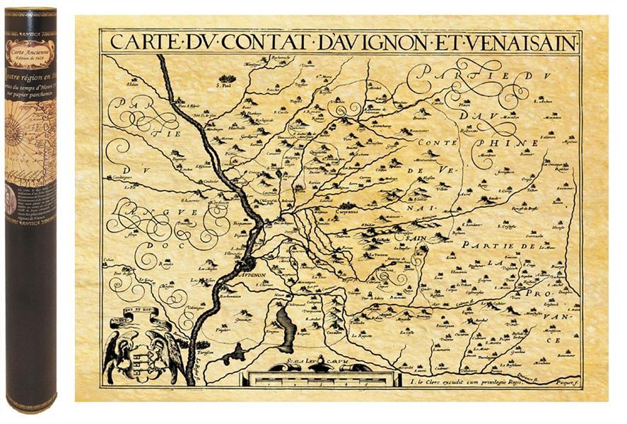 Comte d'avignon en 1615 58,5 cm x 42 cm