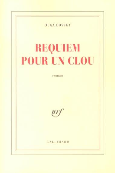 Requiem pour un clou roman