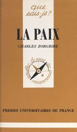 Vente Livre Numérique : La paix  - Charles Zorgbibe