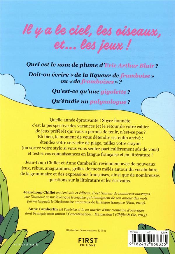 Cahier de jeux : langue française