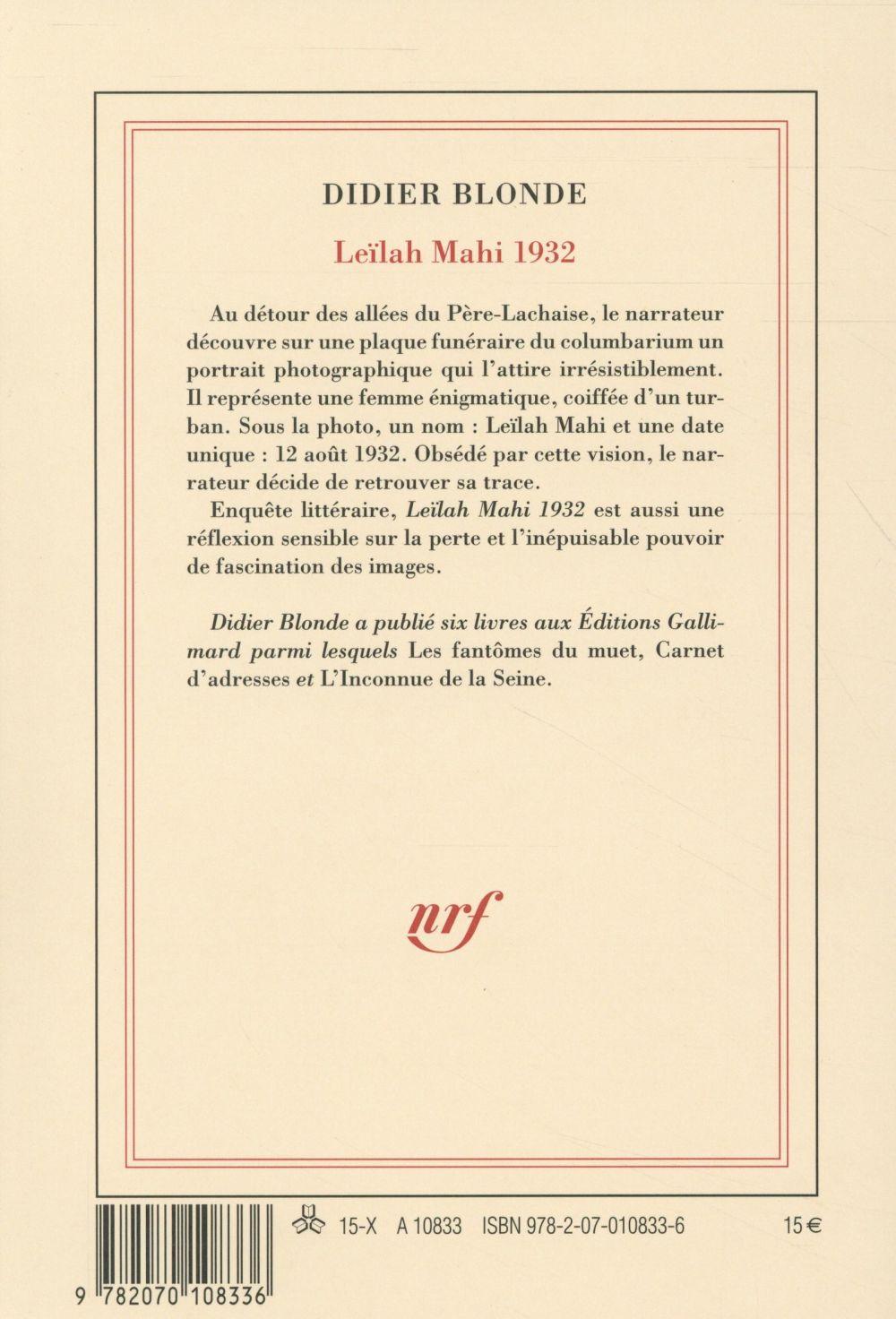 Leïlah Mahi 1932