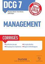 Vente EBooks : DCG 7 Management - Corrigés  - Sabine Sépari - Morgane LE BRETON - Kévin Herlem