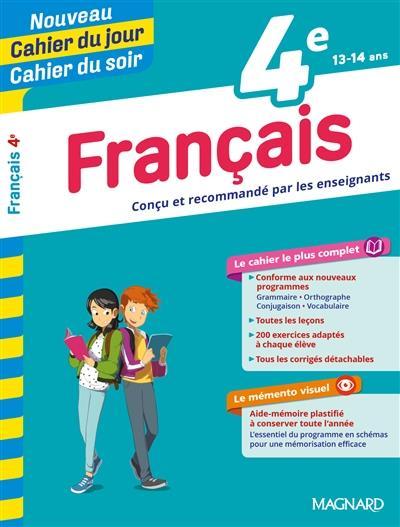 Cahiers du jour/ soir ; français ; 4e