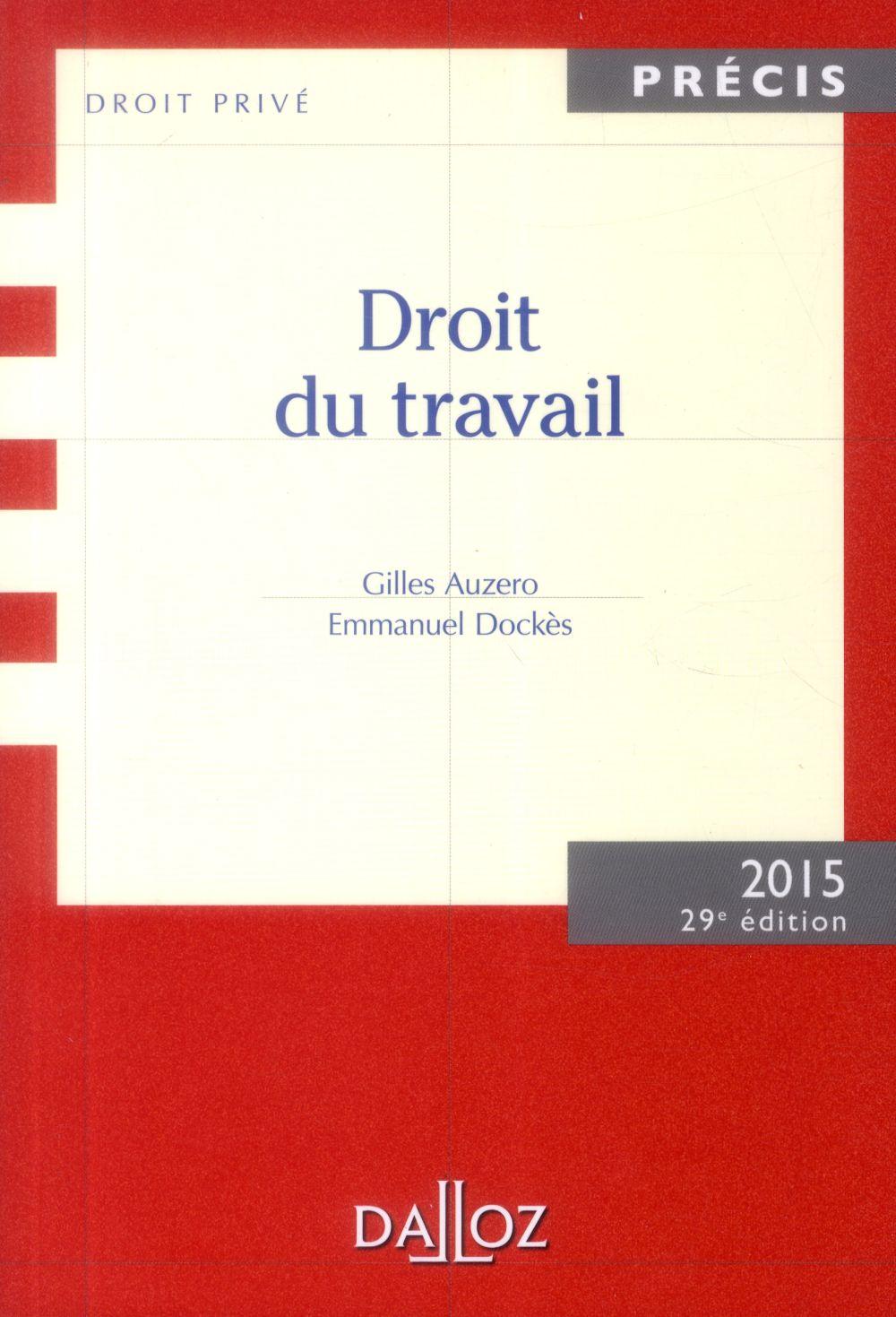 Droit du travail (édition 2015)