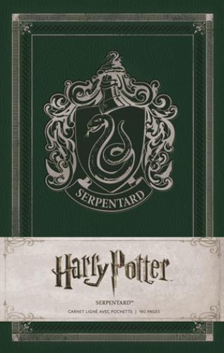 Harry Potter ; Serpentard ; carnet ligné avec pochette