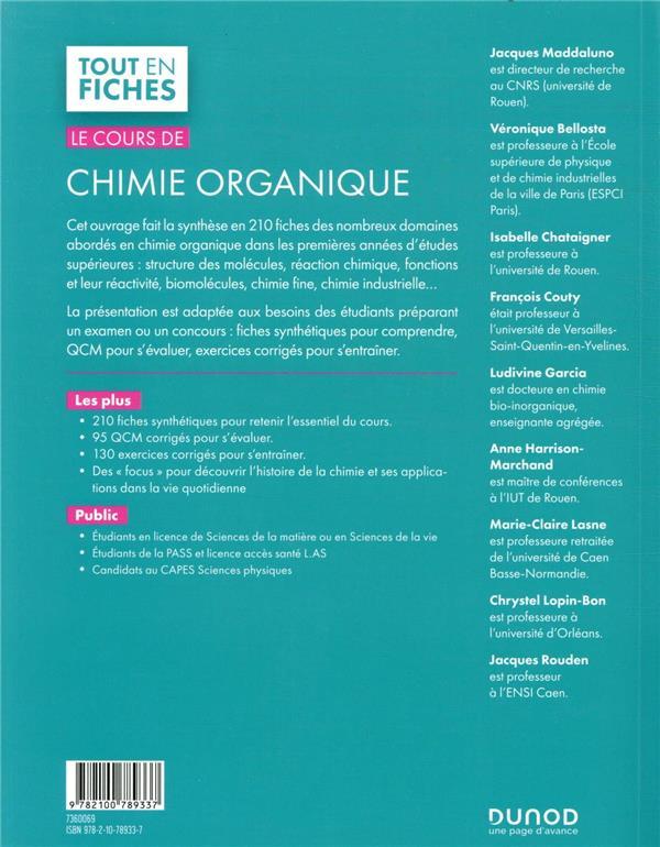 Le cours de chimie organique (3e édition)