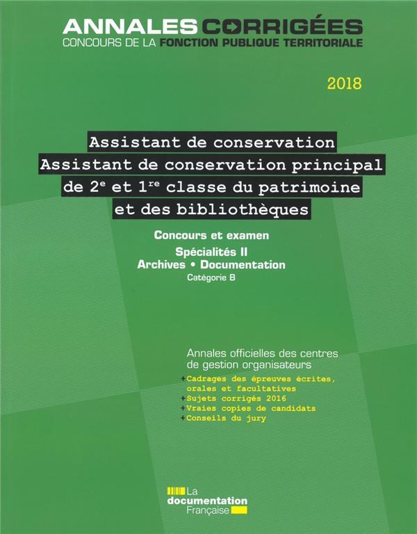 Informations administratives juridiques n.86 ; assistant, assistant de conservation principal (2e et 1re classe) du patrimoine et des bibliotheques ; specialites ii (edition 2018/2019)