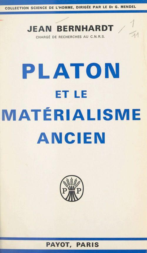 Platon et le matérialisme ancien