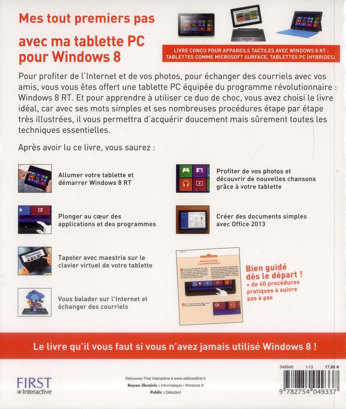 Mes tout premiers pas avec ma tablette pc pour windows 8