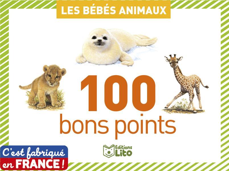 boîte de 100 bons points ; les bébés animaux