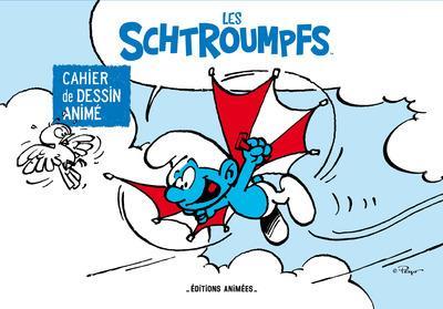 cahier de dessin animé ; les Schtroumpfs