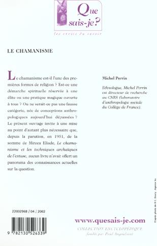 Le chamanisme 4e ed  qsj 2968
