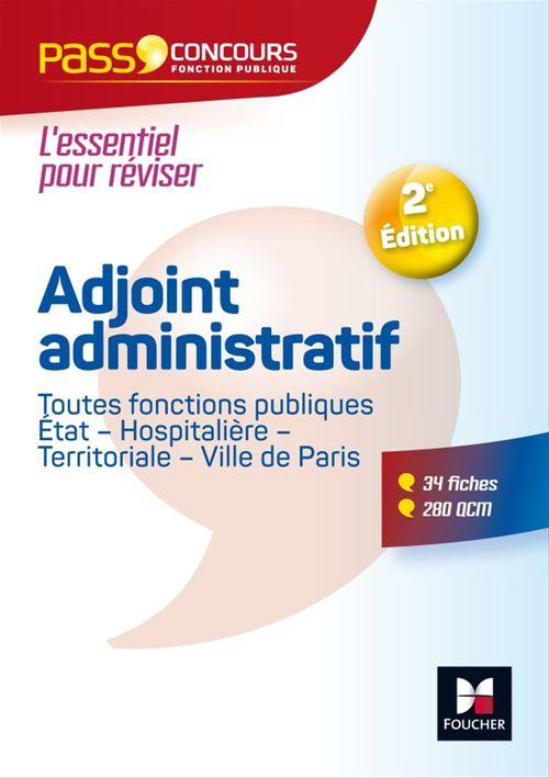 Pass'concours ; adjoint administratif fonction publique Etat, territoriale, hospitaliere ; catégorie C
