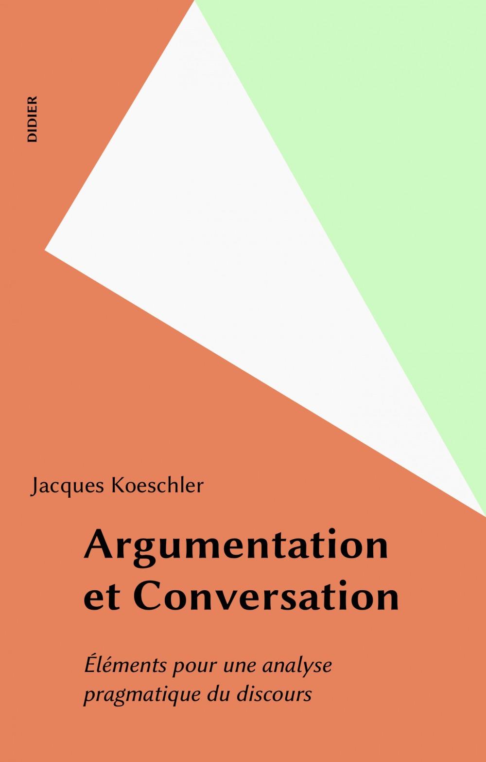 Argumentation et conversation