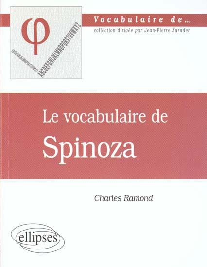 vocabulaire de spinoza (le)