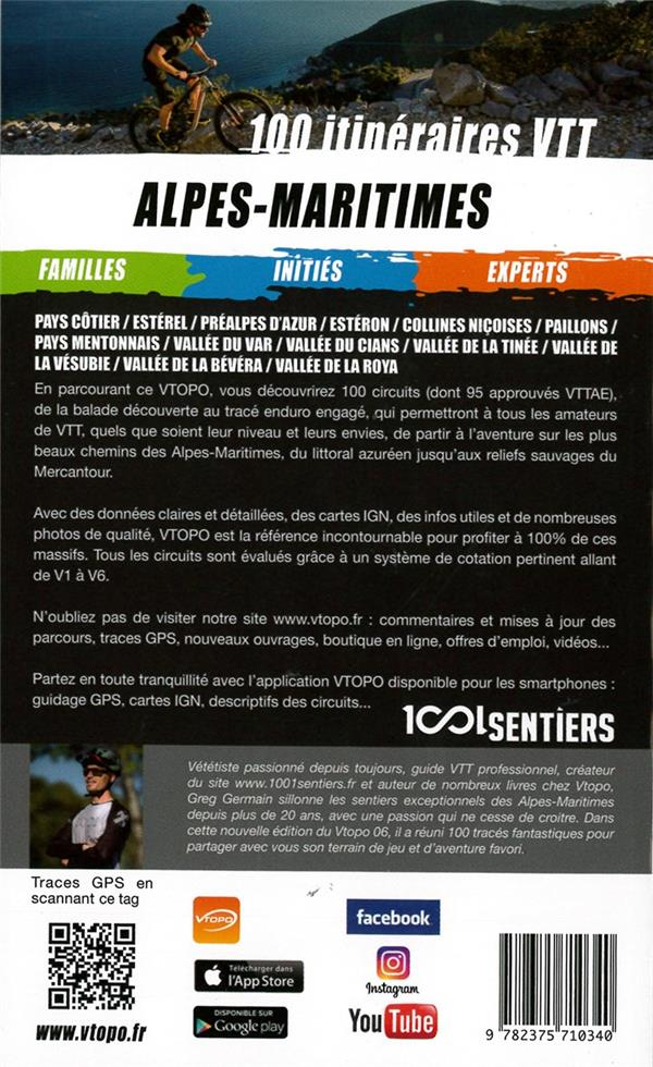 Alpes Maritimes ; 100 circuits VTT