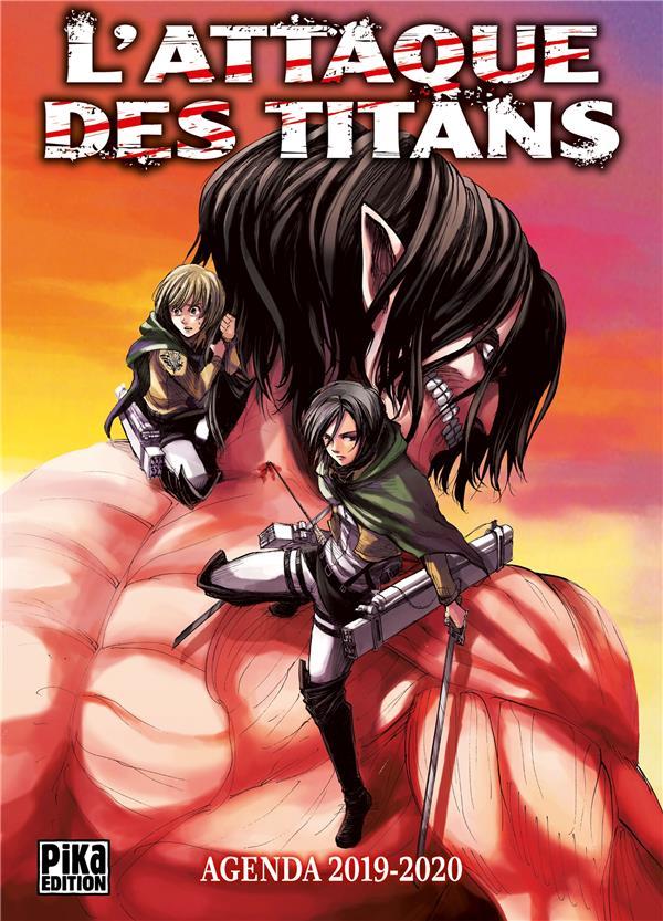 L'attaque des titans ; agenda scolaire (édition 2019/2020)