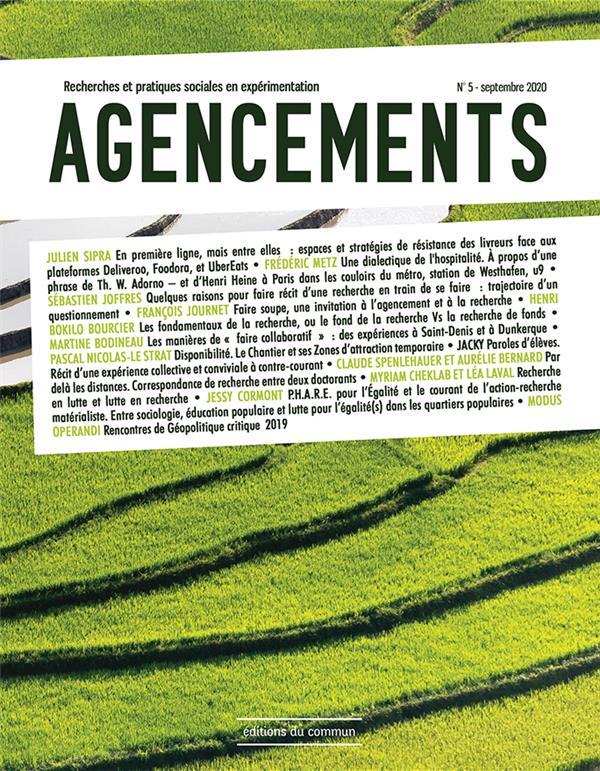 Agencements ; recherches et pratiques sociales en experimentation n.5