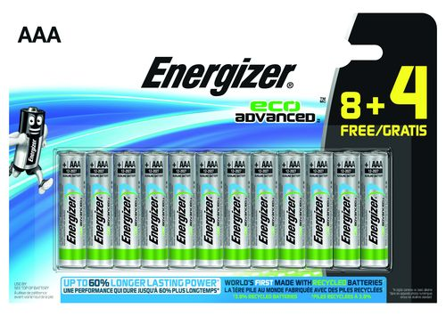 ENERGIZER ECO ADVANCED AAA/LR03 PACK 8+4