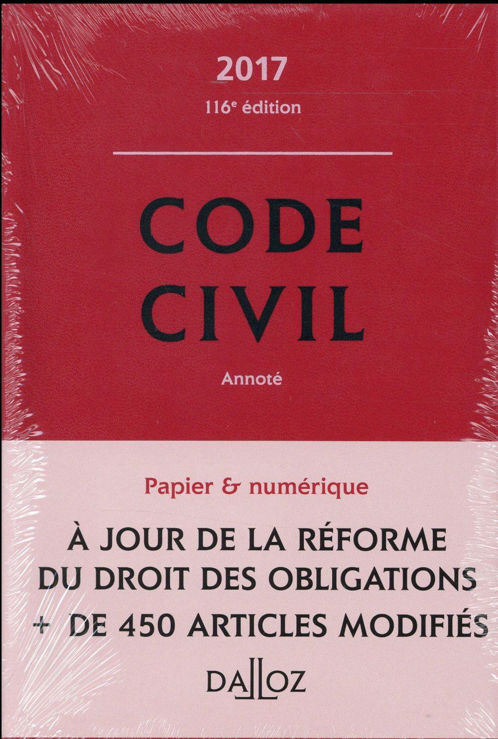 Code civil annoté (édition 2017)