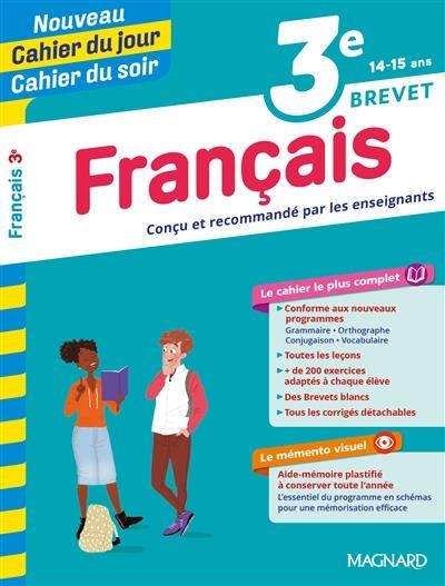 CAHIER DU JOUR  CAHIER DU SOIR - FRANCAIS 3E