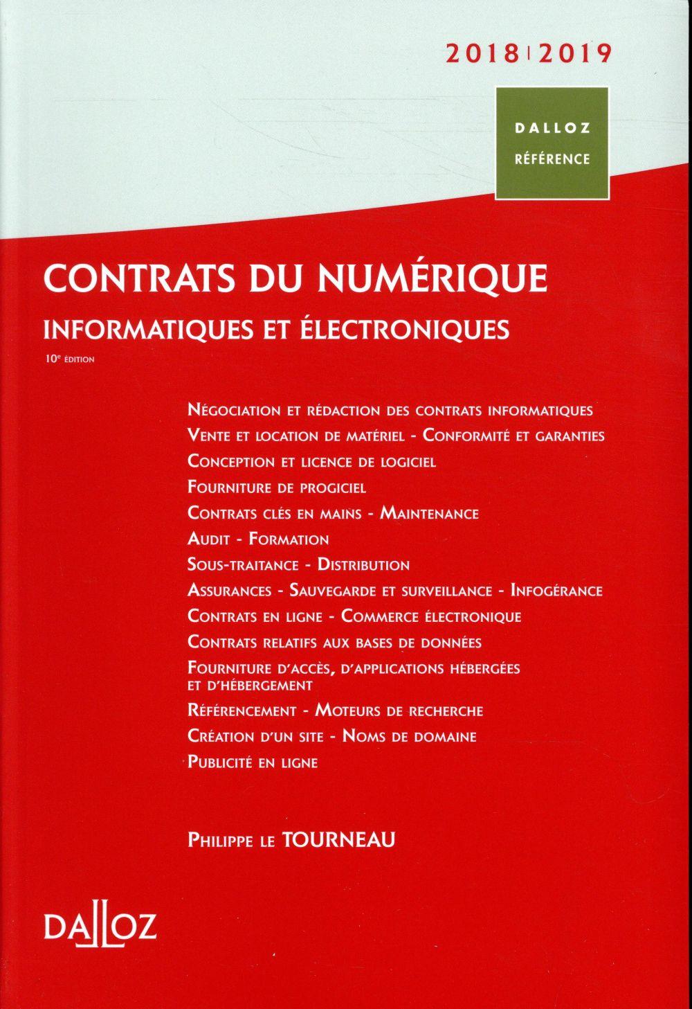 Contrats du numérique, informatique et électronique (édition 2018/2019)
