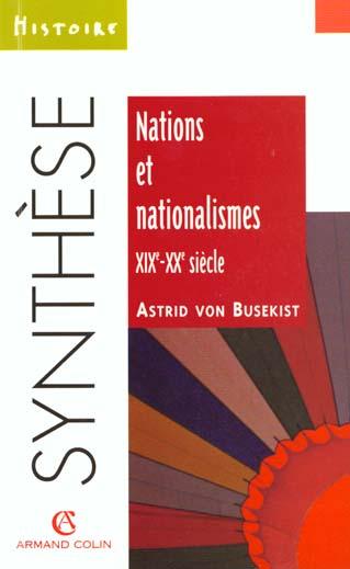 Nations et nationalismes xixe-xxe siecle