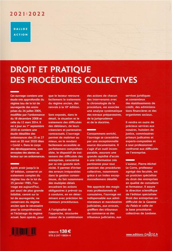Droit et pratique des procédures collectives (édition 2021/2022)