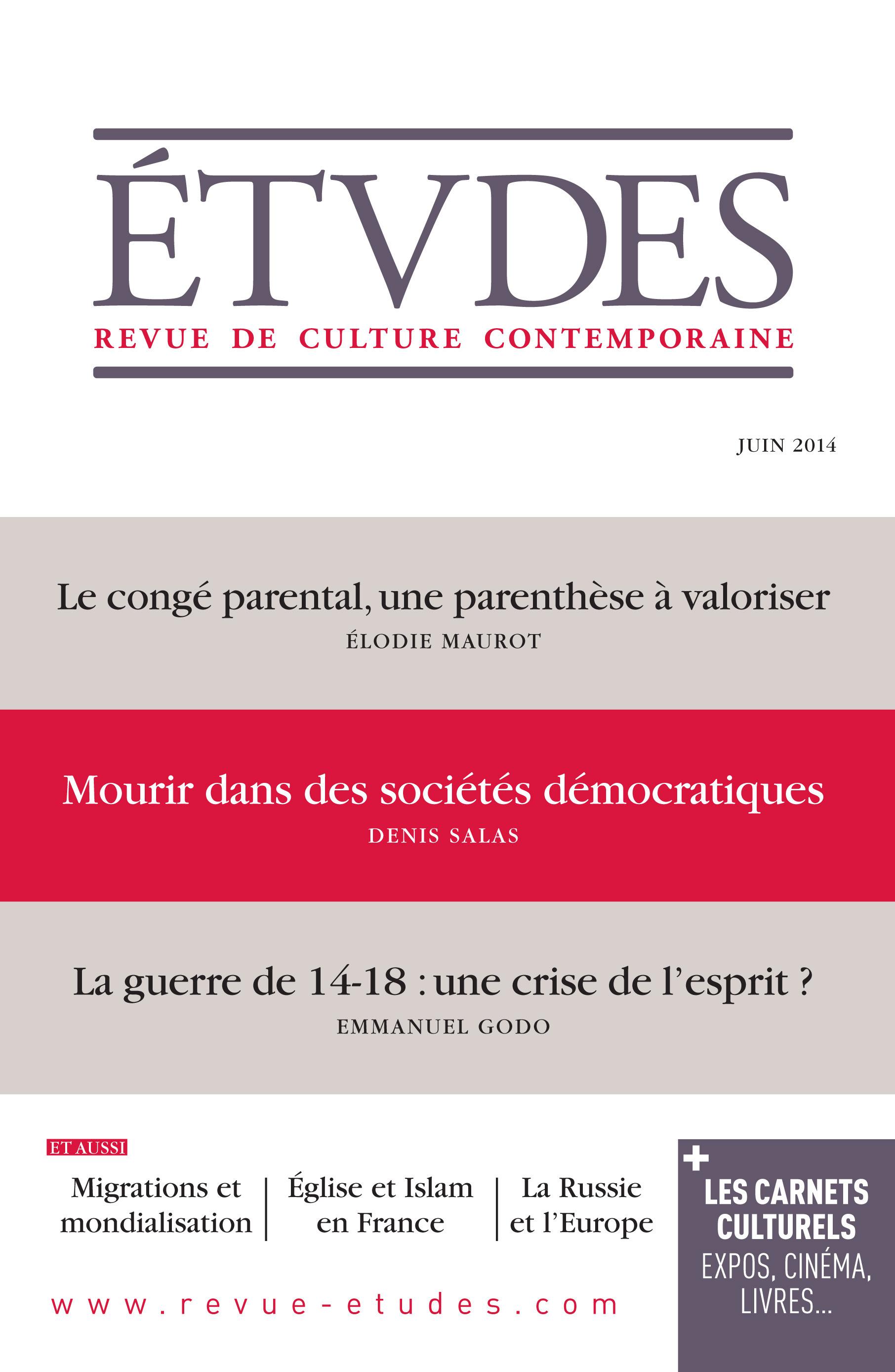 revue études ; Etudes Juin 2014