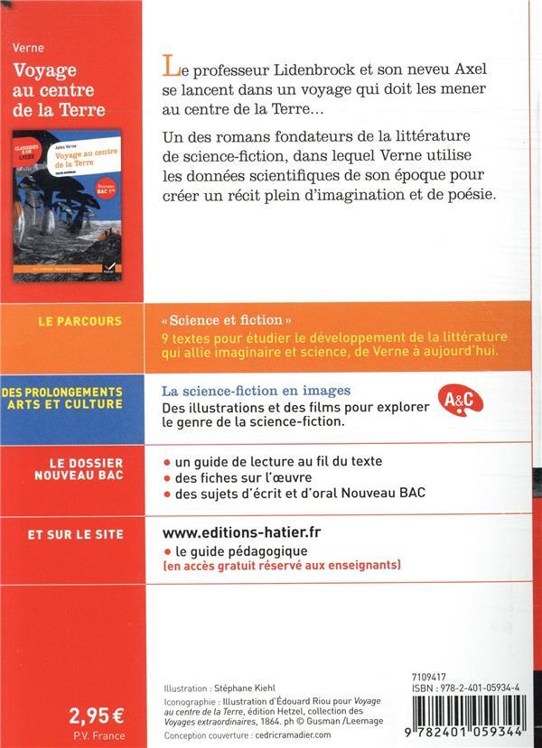 voyage au centre de la terre ; 1re ; parcours : science et fiction (édition 2020)