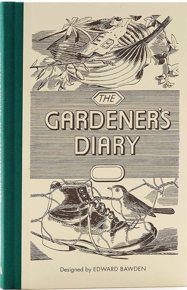 Edward bawden the gardener's diary (green) /anglais