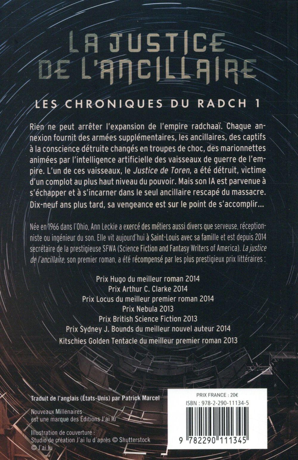 Les chroniques du Radch T.1 ; la justice de l'ancillaire