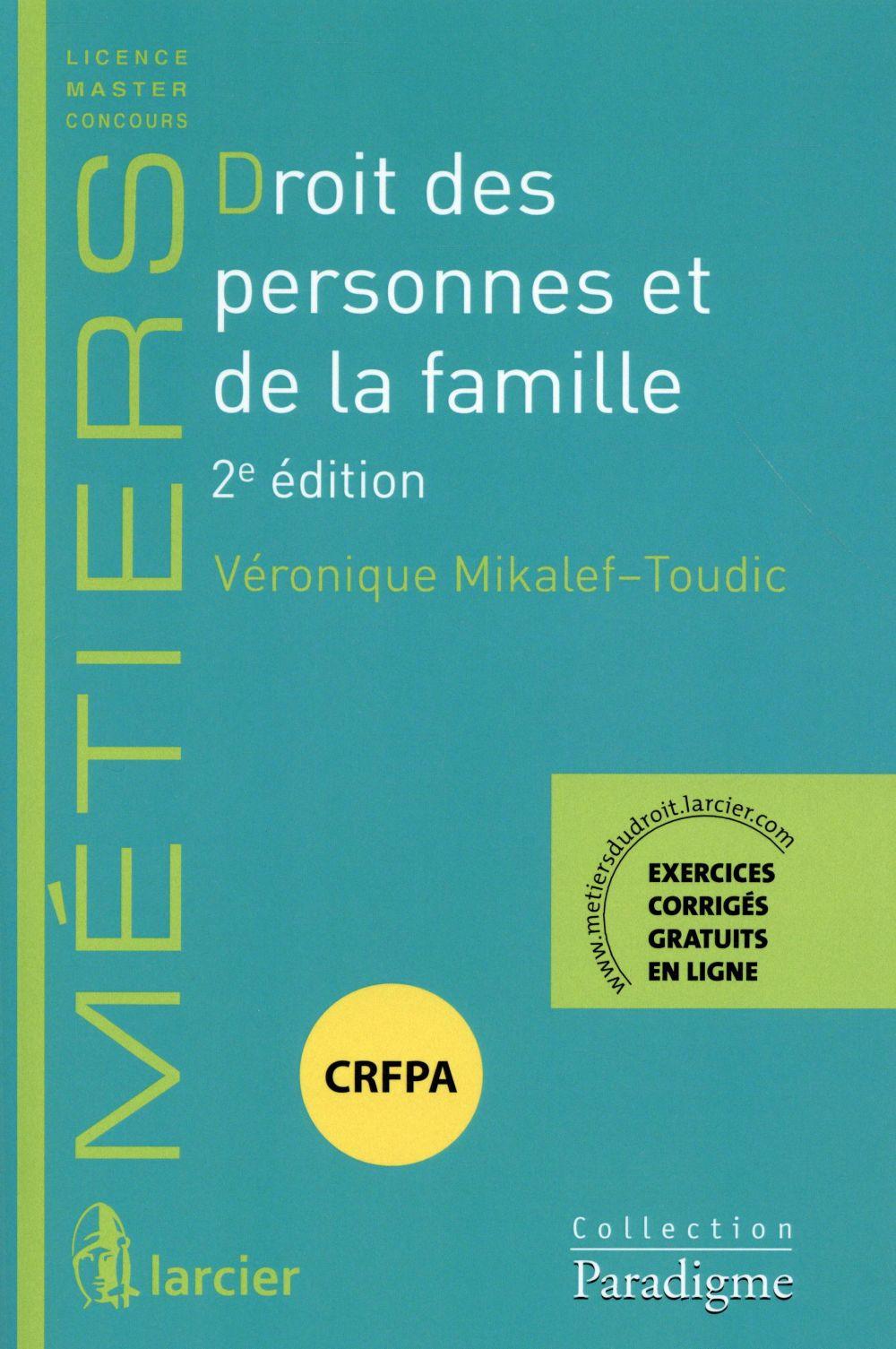 Droit des personnes et de la famille (2e édition)