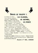 Couverture de Revue agone n.65 ; sous le talent : la classe, la genre, la race