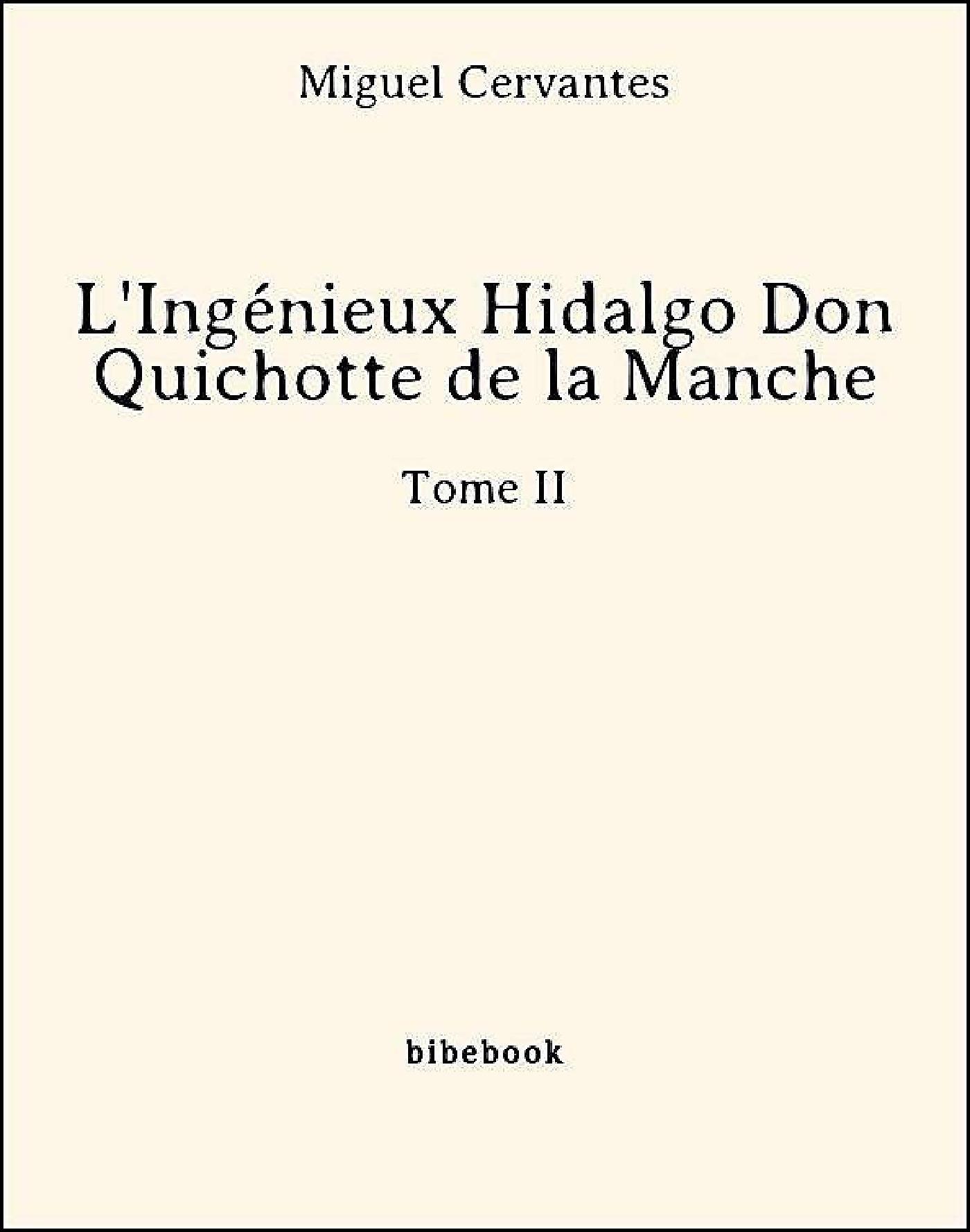 L'ingénieux Hidalgo ; Don Quichotte de la Manche t.2