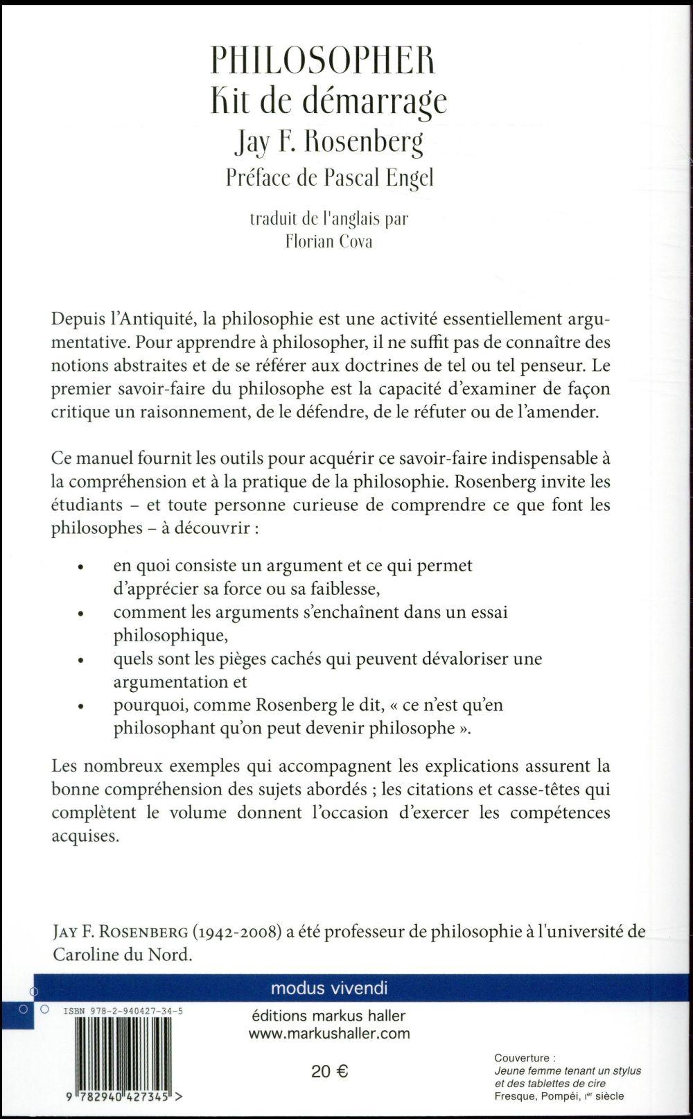 Philosopher Kit De Demarrage Jay Rosenberg Markus Haller Grand Format Le Hall Du Livre Nancy
