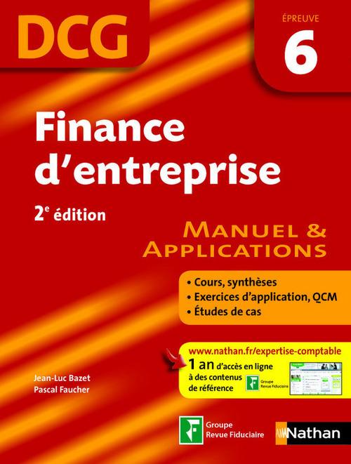 Finance d'entreprise ; DCG ; épreuve 6 ; livre de l'élève (édition 2009)