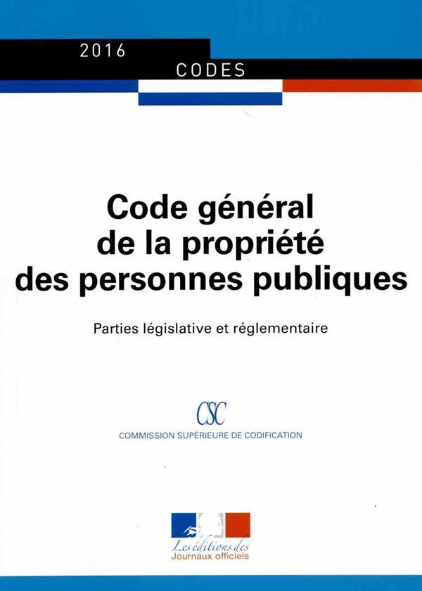 Code General De La Propriete Des Personnes Publiques