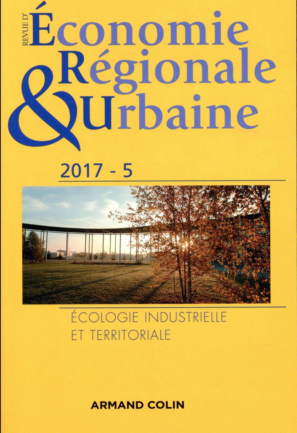 Revue d'économie régionale et urbaine ; 5/2017 varia