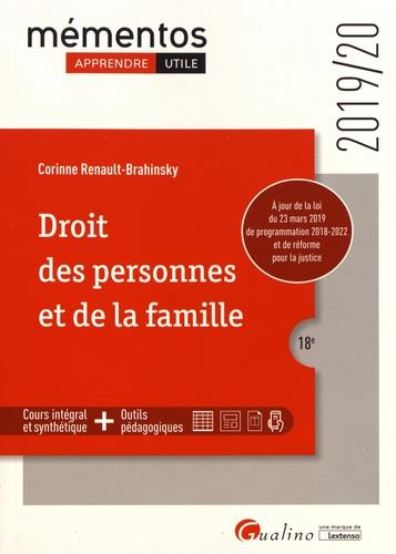 Droit des personnes et de la famille (édition 2019/2020)
