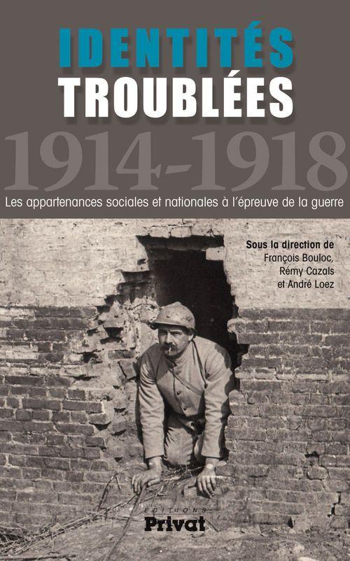 identités troublées ; 1914-1918 ; les appartenances sociales et nationales à l'épreuve de la guerre