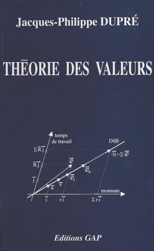 Théorie des valeurs : théorie économique et politique