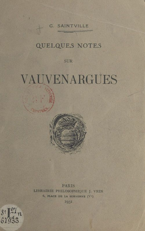 Quelques notes sur Vauvenargues